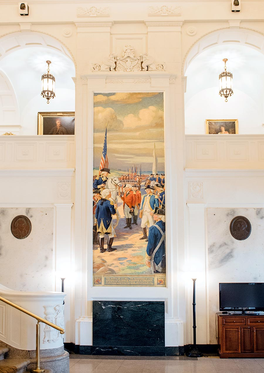 American Swedish Historical Museum - Grand Hall mural