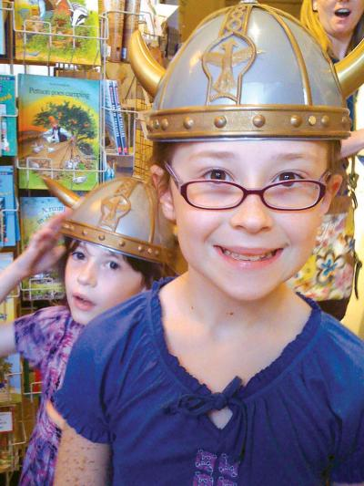 American Swedish Historical Museum - Viking helmets in shop