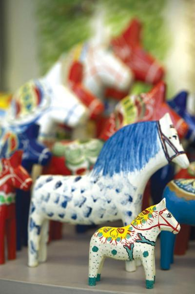 American Swedish Historical Museum - dala horses in shop