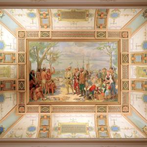 American Swedish Historical Museum - Grand Hall Ceiling