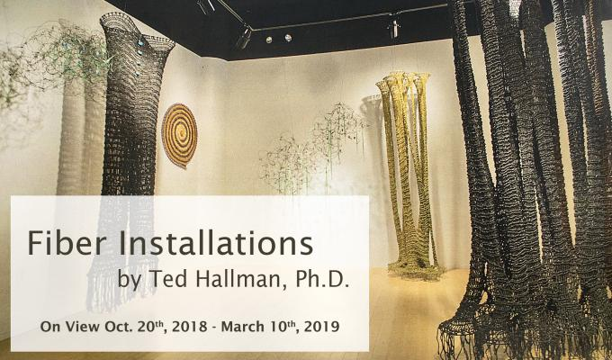 Ted Hallman's Fiber Installation at the American Swedish Historical Museum